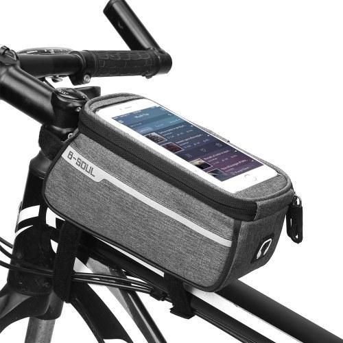 """Saco superior do telefone do tubo da bicicleta de MTB para o saco do quadro da parte dianteira da bicicleta de 6 """"tamanho da tela com furo do auscultadores"""
