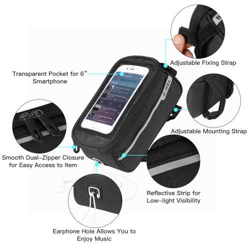 MTB Bicycle Top Tube Phone Bag for 6
