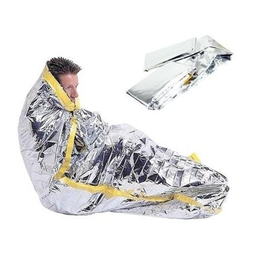 Sacos de sono ao ar livre da sobrevivência da folha de prata da emergência