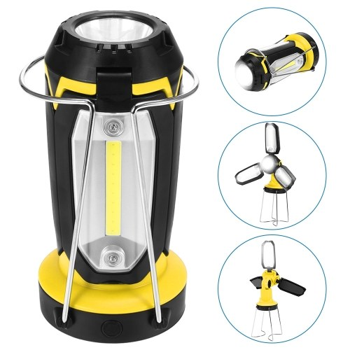 90° Rotating Foldable Lantern USB Rechargeable Camping Lamp Light