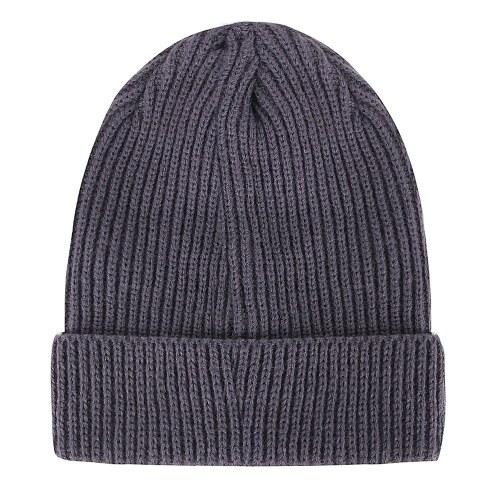 Sombrero de lana de rayas verticales de punto al aire libre