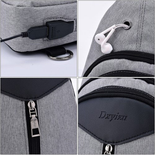 Image of Portable Men's Outside Leisure Chest Bag