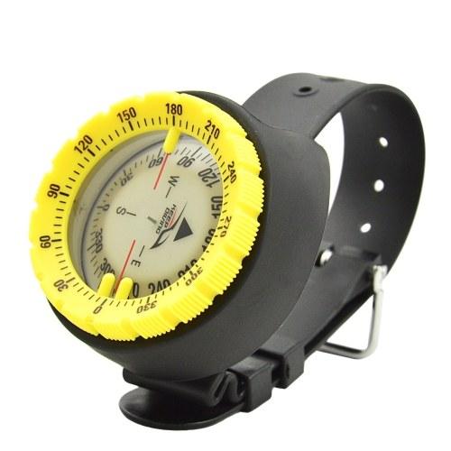 Подводный компас Светящийся компас Наручный компас для дайвинга Высокоточный профессиональный компас для дайвинга Пеший туризм Велоспорт Кемпинг