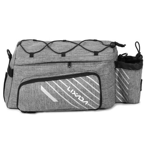 Lixada Expandable Bike Trunk Bag Bicycle Rack Rear Seat Bag Cycling Bike Luggage Carrier Bag Pannier with Rain Cover Image