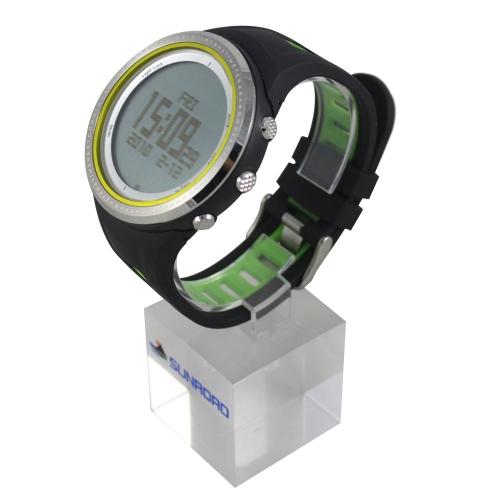 Sunroad Orologio Sportivo,multifunzione Guarda watch,con altimetro Pedometro  Bussola Cronometro Pesca barometro Outdoor,5ATM  impermeabile unisex LED digitale