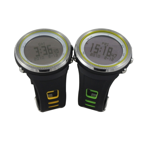 SUNROAD FR800NA 5ATM Waterproof Pedometer Stopwatch Altimeter Barometer Thermometer Compass Timer LCD Display EL Backlight Outdoor