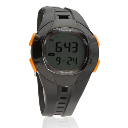 Lixada Sport Uhr Multi Function 3ATM Wasserdicht Schritt Kalorie Abstands Kostenzähler Pedometer 3D Hintergrundbeleuchtung  Walking Laufen Motion Tracker