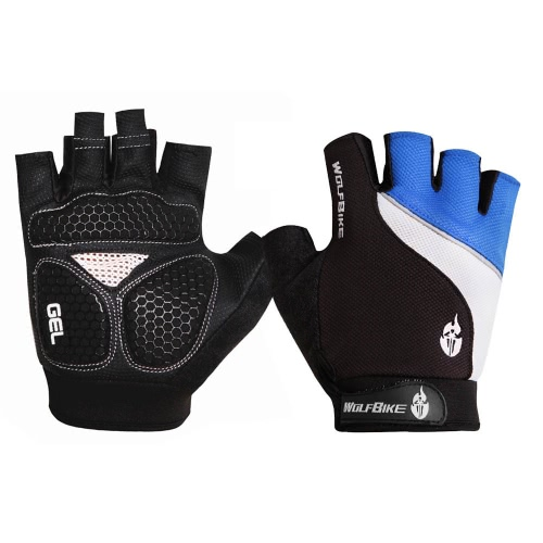 Wolfbike Mountain Bike Bicycle Cycling 3D GEL Breathable Anti-slip Anti-shock Half Finger Gloves
