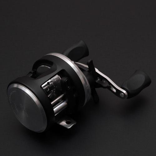 DA201 7+1 Ball Bearings 4.7:1 Spool Bait Casting Reel Dual Control System Stainless Steel Left Hand Fishing Reel