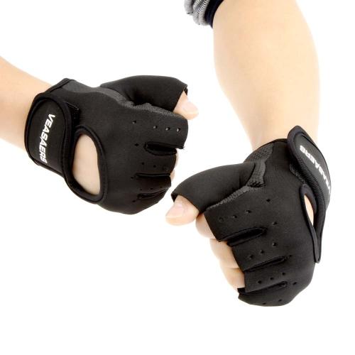 Hombres & mujeres deporte Fitness Gym medio dedo Halterofilia ejercicio guantes guantes de entrenamiento de ciclismo