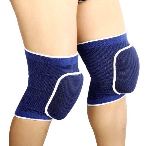 dfef7f1f5 Joelheiras de esponja elástica respirável 2pcs embrulhar perna luva joelheira  protetor para esportes de futebol basquete