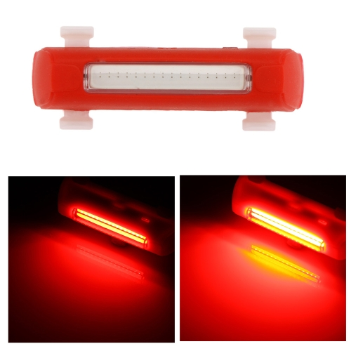 Rechargeable Cycling MTB Bike Bicycle Super Bright LED Tail Light Safety Flashlight Rear Lamp 4 Modes Water-resistant
