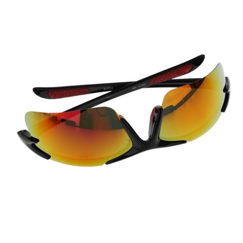 Polarizzati ciclismo occhiali da sole sicurezza Eyewear Occhiali per ciclismo universale di attività all'aria aperta con scatola di immagazzinaggio, panno di pulizia