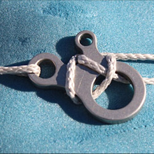 3-Loch Edelstahl KnotenszeugSchnalle Mehrzweck Outdoorausrüstungen EDC schnell Knoten Tool