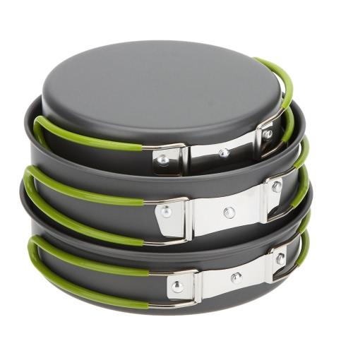 Lixada Estufa de 2-3 personas cocina portátil multifuncional al aire libre del Cookware que acampa portable mesa al aire libre