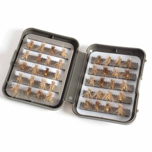 Lixada esche artificiali spinning in Acciaio & Feather con Box,40 pezzi