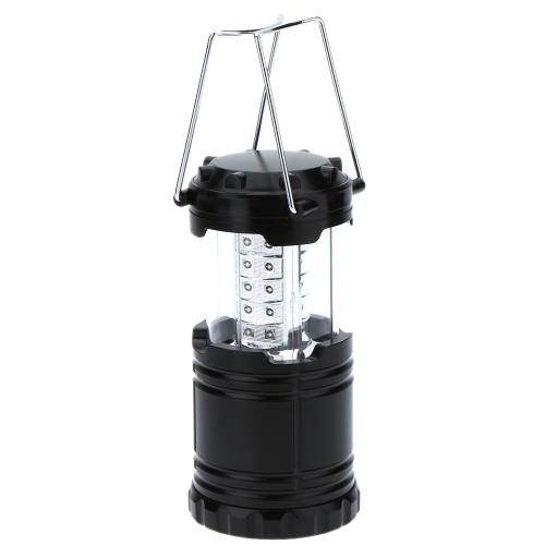 30 светодиодов открытый портативных ультра яркий фонарь складной кемпинг света лампа для Пешие прогулки Кемпинг чрезвычайных