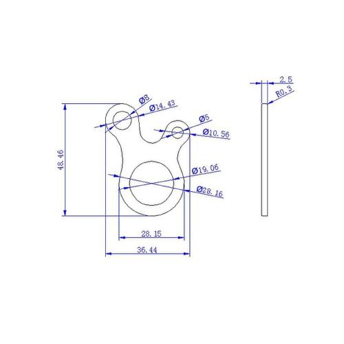 3pcs 3 Hole EDC Survival Buckle Multi-purpose CNC Aluminum Alloy Outdoor Knotting Tool