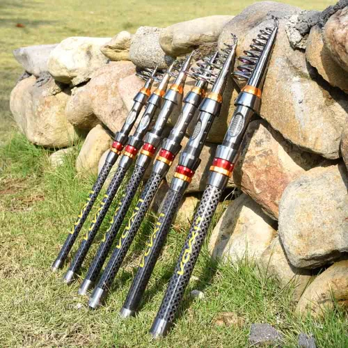 Roll over image to zoom in Lixada Telescopic Fishing Rod Portable Carbon Fiber Fishing Rod Travel Spinning Sea Fishing Pole Tackle 2.1/2.4/2.7/3.0/3.6m