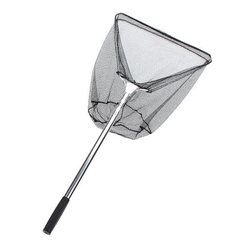 Lixada 3 Sektionen Triangle Brail teleskopisch Fischernetz Rostfreier Stahl Griff Nylon Kescher