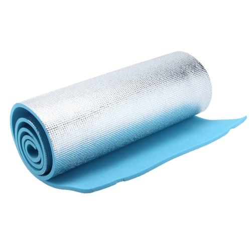 Lixada 180×50/60×1cm EVA Schiuma lamina di alluminio Cuscino Tappetino a lato singolo Impermeabile Materasso di Yoga cuscino per campeggio di spiaggia esterna Escursionismo viaggio Picnic Stuoia di dormire