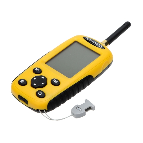 Tomtop coupon: Dot Matrix LCD Rechargeable Wireless Portable Fish Finder Fishing Depth Sonar Sensor Alarm Transducer