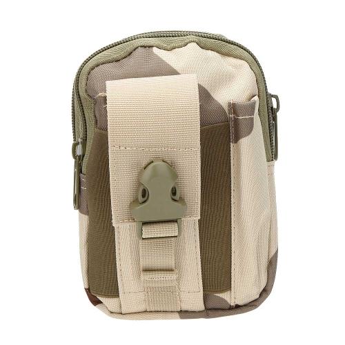 屋外タクティカルウエストバッグポータブル防水携帯電話の財布ウエストパック