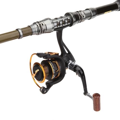11 + 1 rodamientos de bolas 5.1:1 izquierda derecha plegable manija permutable Spinning pesca Carretes pesca