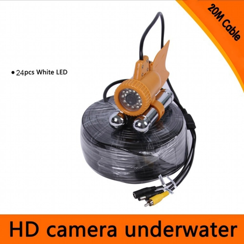 20M / 30M Cable Underwater Fishing Video 600TVL SONY CCD Fishing Camera 24pcs White LEDs Nightvision Waterproof Fish Finder