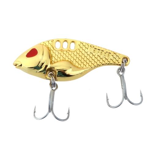 YAPADA VIB 301 10g 15g 20g 25g Zinc Alloy Hard Fishing Lure VIB Bait with Treble Hooks 6 Colors