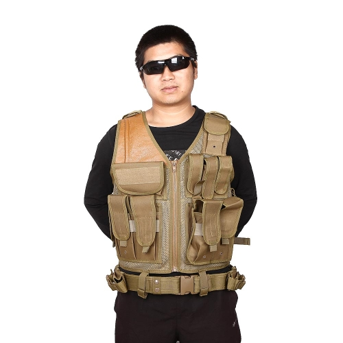 SWAT Airsoft Paintball CS caccia Combat Assault Vest Outdoor Training maglia gilet tattico