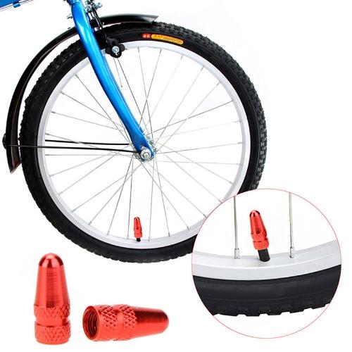 Tomtop coupon: 2pcs Aluminium Alloy MTB Bicycle Road Bike Presta Valve Mouth Cover Tyre Wheel Rims Stem Air Valve Dust Cap