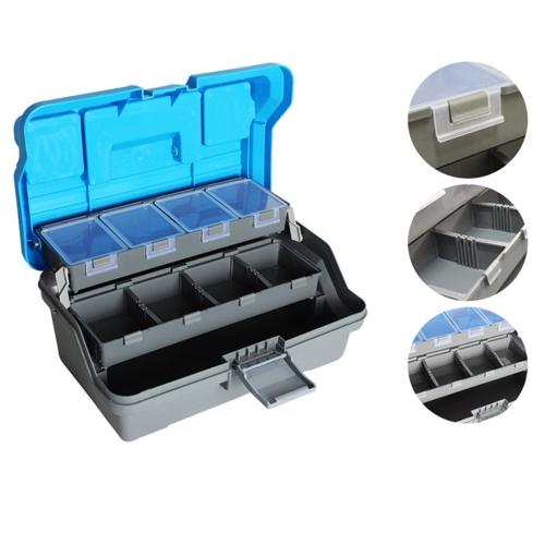32 * 16 * 15 cm 3 capas grandes de pesca señuelos Tackle caja mango plástico caja de herramienta