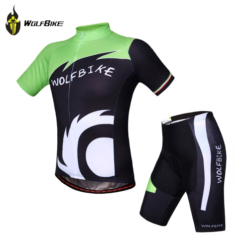 WOLFBIKE Unisex Cycling Bicycle Bike Wear Outdoor Short Sleeve Jersey Breathable Shirt Riding Jacket