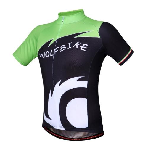 WOLFBIKE Unisex Ciclismo bicicleta bici desgaste al aire libre manga corta Jersey transpirable camisa chaqueta del montar a caballo