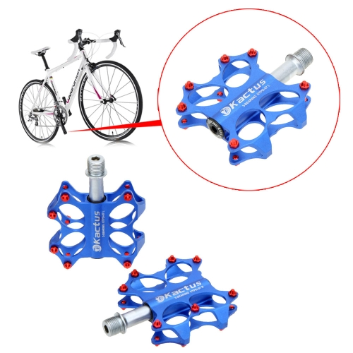 2Pcs 3 Sealed Bearings CNC Steel Axle Aluminum Alloy Platform Pedals for BMX MTB Bicycle 5 Colors
