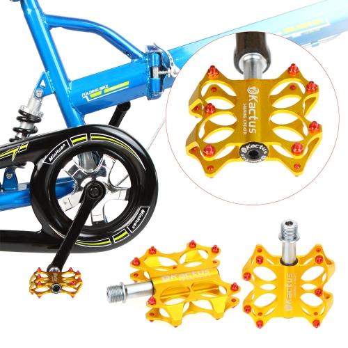 2pcs 3 cuscinetti sigillati CNC asse in acciaio alluminio lega piattaforma pedali per MTB BMX biciclette 5 colori
