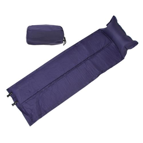 Lixada 188 * 57 * 2.5cm Colchoneta Colchón para Dormir Tienda  Impermeable Automátio Inflable Auto-Inflar con Almohada para Acampar al Aire Libre (Azul)