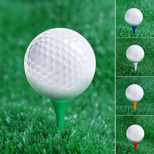 Lixada 100Pcs 69mm gemischte Farbe Holz Golf Tees