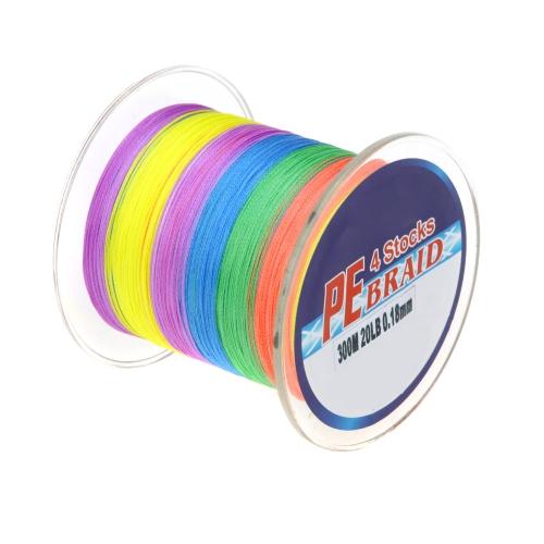 Lixada multicolore Lenza da pesca/Lenze intrecciate, Super Forte 4 Fili Intrecciati Linea,300M,20LB ,0.18mm