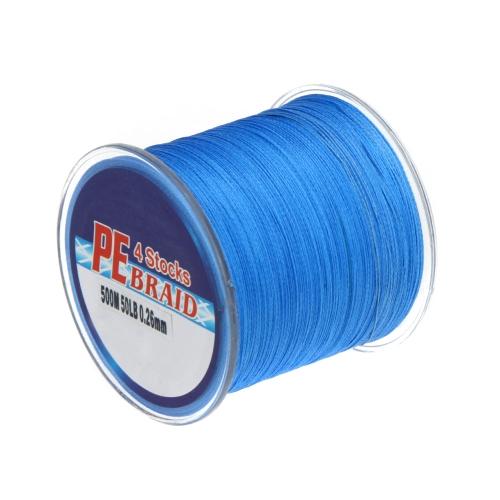 500M 50 LB красочные 4 пряди мультифиламентные PE Кос рыбалка линия 7 цветов