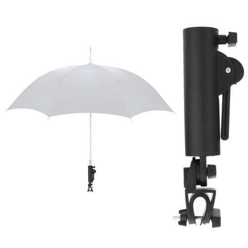 Lixada Schwarze Golf Club-Push Pull Warenkorb Autohalterung Trolley Regenschirm