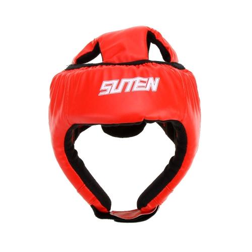 Lixada PU-Leder Boxing Muay Thai Kick  Sanda MMA Taekwondo Sparring Training Kopfschutz Kopfschutz Helm