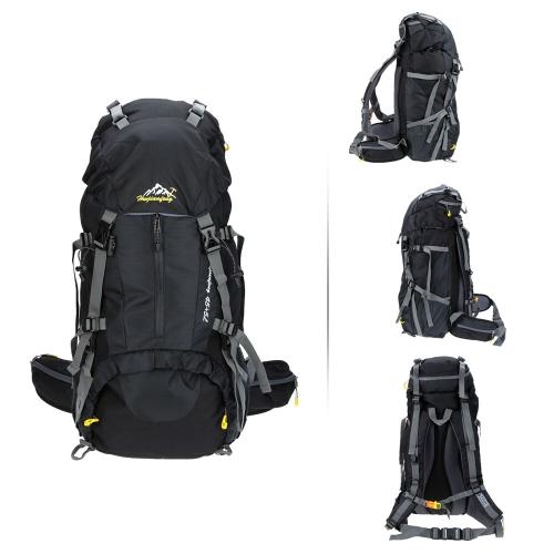 Lixada Zaini da escursionismo/borse  Multifunzione in Nylon con copertura della pioggia, Unisex,impermeabile,50L