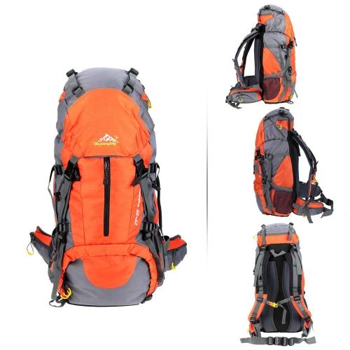50L wasserdichte Outdoor Sport Wandern Trekking Camping Reise Rucksack Pack Bergsteigen Klettern Ranzen mit Regenabdeckung