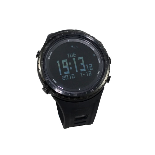 SUNROAD FR801B Pedometer Stopwatch Altimeter Barometer Thermometer Compass Timer LCD Display EL Backlight Outdoor Sports Watch Mul