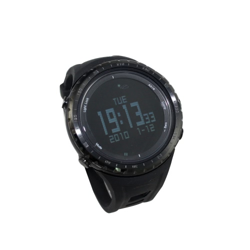 SUNROAD FR801B Schrittzähler Stoppuhr Höhenmesser Barometer Thermometer Kompass Timer LCD Display EL-Hintergrundbeleuchtung Outdoor Sport Watch Multifunktion
