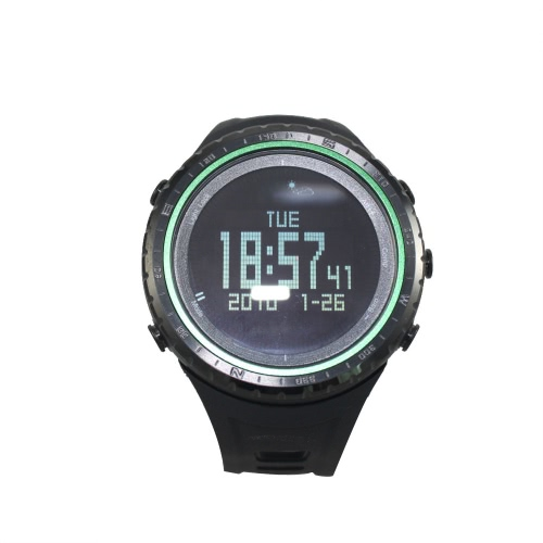SUNROAD FR801B Pedometer Stopwatch Altimeter Barometer Thermometer Compass Timer LCD Display EL Backlight Outdoor Sports Watch Multifunction