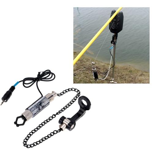 Plancha mordida cadena suspensión Swinger LED luminoso indicador de alarma de pesca