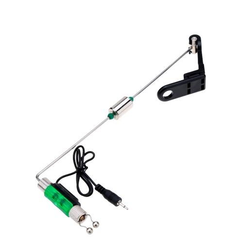 光でアタリをお知らせ 釣り用フィッシングヒットセンサー ハンガーウィンガー 釣りアラームと組み合わせ 釣り糸をアラームローラーに圧密!